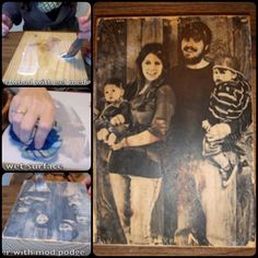 I found this neatest trick to Transfer Photos Onto Wood. It is so much fun and surprisingly easy to do. And the result is beautiful.