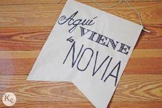 DIY #83. Cartel Aquí viene la novia/Here comes the bride sign