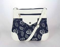 kabelka Panter modrotlač 3