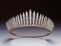 tiara del diamante frinje del reino unido
