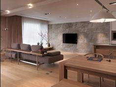 Living room transformed into a beautiful living space by slate veneer tiles