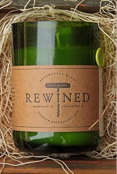 Rewined are a company that make candles out of used wine bottles, and fill them with wax that smells like different wines! Amazing!
