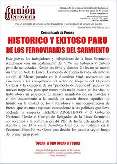 CRÓNICA FERROVIARIA: Línea Sarmiento: Para los delegados de la Unión Fe...