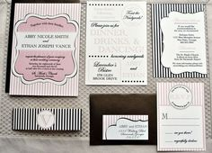 Another striped suite with belly band BY INVITATION ONLY