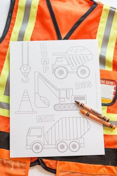 Coloring pages for a truck + construction themed birthday party via Kara's Party Ideas KarasPartyIdeas.com #constructionparty #underconstruction Cake, favors, supplies, ...