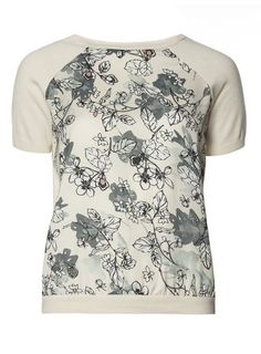 Printed Woven Front Tee