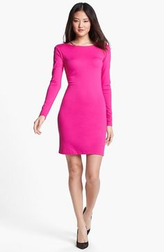 Amanda Uprichard Cutout Back Ponte Sheath Dress available at #Nordstrom