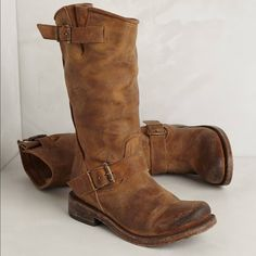 Freebird Boots from Steve Madden Light brown leather Freebird boots from Steve Madden. Worn only 2-3 times. Fit a little small. Steve Madden Shoes Heeled Boots