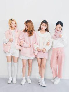 Korean Fashion – How to Dress up Korean Style Kawaii Fashion, Pink Fashion, Cute Fashion, Skirt Fashion, Trendy Fashion, Fashion Looks, Fashion Outfits, Womens Fashion, Korean Fashion Trends