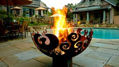Great Bowl O' Fire recycled steel firebowl made by hand in USA