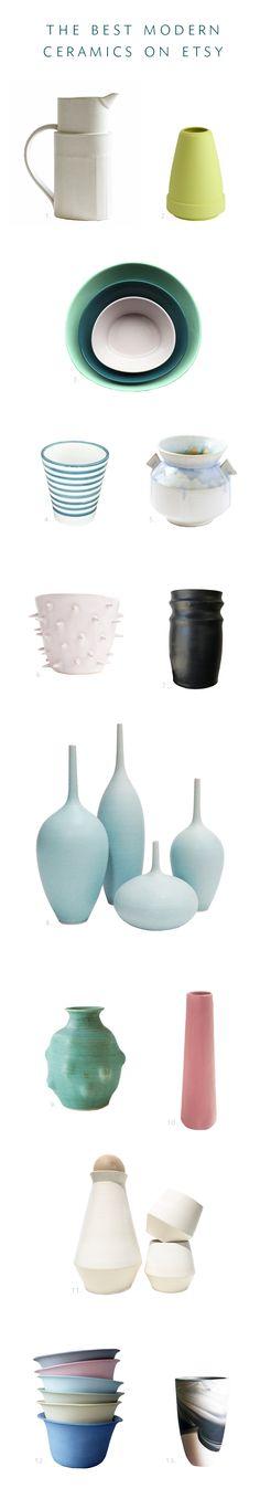 the best modern ceramics on @etsy | roundup via coco kelley #partner
