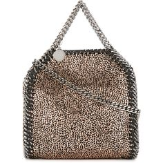 Stella McCartney mini Falabella tote (3.675 RON) ❤ liked on Polyvore featuring bags, handbags, tote bags, grey, gray tote bag, grey tote bag, cross-body handbag, gray crossbody purse and crossbody tote bag