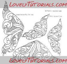 "Трафареты ""Бабочки"" -Butterfly templates - Мастер-классы по украшению тортов Cake Decorating Tutorials (How To's) Tortas Paso a Paso"