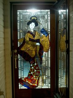 Stained Glass Door Panel   Residence