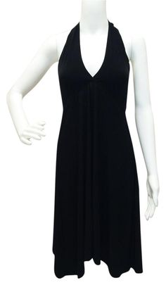 """Tropical Honey Dress Black Empire Halter Cover Up. $25 Free shipping and guaranteed authenticity on Tropical Honey Dress Black Empire Halter Cover Up at Tradesy. Tropical honey  color Black Small size 28"""" long..."""