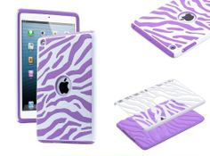 Amazon.com: XYUN 2-piece for Apple Ipad Mini Hybrid Rugged Rubber Matte Hard Case Cover (Purple): Cell Phones & Accessories