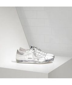Golden Goose Super Star Sneakers In Leather With Suede Star Womens a7e7ab13cc16