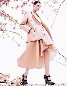 Bette Franke is Pretty in Pink for Vogue Japan August 2013 by Sharif Hamza