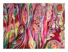 """Nancy Létourneau (Pixels) Abandon, 2013 Acrylique, pastel gras sur papier yupo 26""""x20"""""""