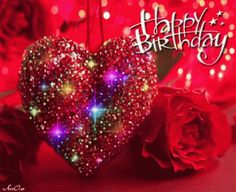 Birthday Quotes : Colorful Heart Happy Birthday Gif - The Love Quotes Animated Birthday Greetings, Happy Birthday Greetings Friends, Happy Birthday Wishes Photos, Happy Birthday Celebration, Happy Birthday Wishes Cards, Birthday Blessings, Birthday Prayer, Happy Birthdays, Happy Birthday Hearts