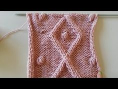 How to Knit Rhombus Cable Bobble Part 1 - YouTube