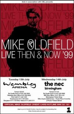 Mike Oldfield Live Then & Now Music Posters, Concert Posters, Mike Oldfield, Then And Now, Live, Musica, Gig Poster