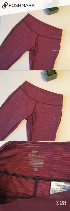 Nike | berry pink cropped workout leggings Raspberry pink colored cropped Nike workout leggings. In excellent condition! Feel free to ask questions or make an offer! Nike Pants Leggings