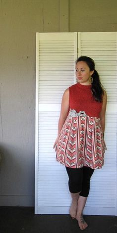 Eco upcycled clothing Romantic dress Casual by lillienoradrygoods, $59.50