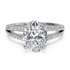 Ritani Platinum Oval Split Shank Diamond Engagement Ring - Fink's Jewelers