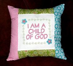 I Am a Child of God, Girl - 2 Sizes!   What's New   Machine Embroidery Designs   SWAKembroidery.com Sew Cha Cha