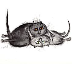 Ronald Searle's Cats, 1967.