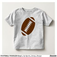 FOOTBALL TODDLER Gray | Front Football Graphic Toddler T-shirt