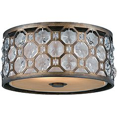 @Overstock - Light up your life with this attractive lighting fixture. This indoor light is perfect for any home or office.http://www.overstock.com/Home-Garden/Cartier-2-light-Flushmount-in-Weathered-Bronze/6813908/product.html?CID=214117 $348.05