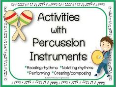 MUSIC: PERCUSSION CHART and COMPOSITION.   ♫ CLICK through to check out this resource or save for later! ♫