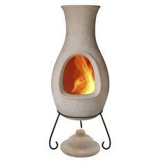 Nice 4 Elements Clay Chiminea Air   Large A