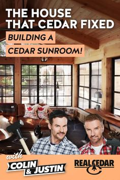 Watch how Scottish Interior Design superstars Colin and Justin completely transformed this Long Beach cabin! Using Western Red Cedar, five valuable property . White Fireplace, Western Red Cedar, Home Additions, Long Beach, Sunroom Ideas, Outdoor Gardens, Superstar, Modern Design, Deck