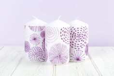 Pillar Candles, Easy Crafts, Screen Printing, Diy Home Decor, Craft Ideas, Projects, Prints, Inspiration, Design