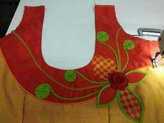 Best 12 Flowers design – Page 345651340151200937 Saree Jacket Designs, Patch Work Blouse Designs, Saree Blouse Neck Designs, Hand Work Blouse Design, Kurti Neck Designs, Sari Blouse, Latest Blouse Neck Designs, Chudi Neck Designs, Simple Blouse Designs