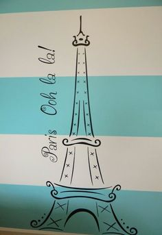 Paris themed room decal from Etsy