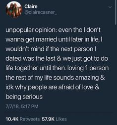 Not afraid of love. Afraid of being hurt and fucked over again, but I'm still willing to commit, just not willing to settle 🤷‍♀️ Real Life Quotes, Some Quotes, Words Quotes, Wise Words, Sayings, Relationship Memes, Relationships, Afraid Of Love, Unpopular Opinion