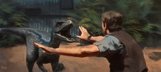 Jurassic World Raptor study, Raph Lomotan on ArtStation at https://www.artstation.com/artwork/jurassic-world-raptor-study
