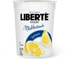 Libertē Lemon yogurt!!!  My new favorite. Make it a meal or occasional dessert though because this isn't low fat. 12 grams of fat! Worth  every gram! Lemony with actual lemon pulp!