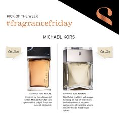 Our pick of the week is by Michael Kors Fragrances, Michael Kors