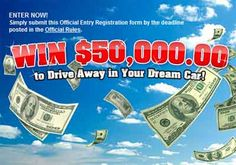 PCH.com Win cash prize to buy your dream car WHAT DO U DREAM TO DRIVE