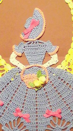 Lea - Spring is in the Air Crinoline Girl Doily (2)
