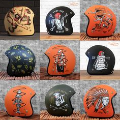 Helmets Painting Collection
