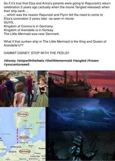 Wow, it's even connected with Ariel...Disney truly is the master of the feels!!! O_O #frozen #rapunzel #thelittlemermaid