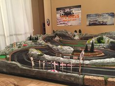 Slot Car Racing, Slot Car Tracks, Slot Cars, Carrera, Diorama, Trains, Layouts, Lego, Scenery