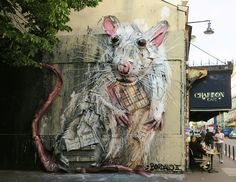 """Lab Rat"" by Bordalo II in Paris | StreetArtNews"