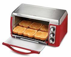 Hamilton Beach 31335 Ensemble 6-Slice Toaster Oven, Red - $50 on Amazon